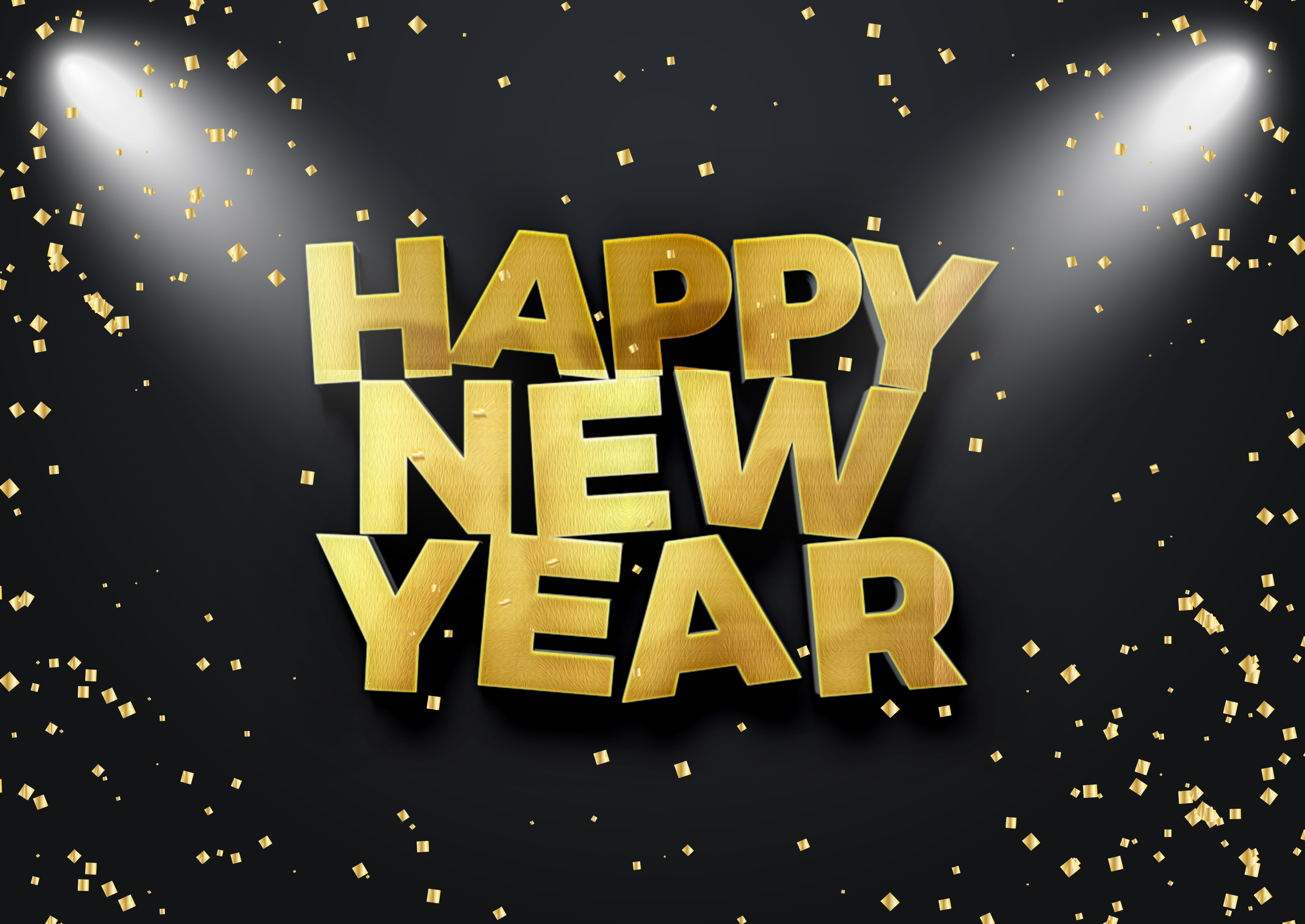 happy new year 2018 text mock up example image 1