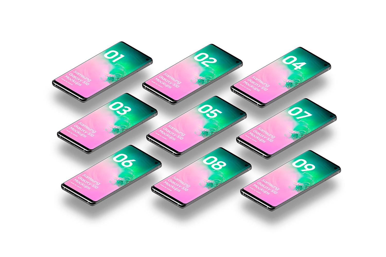 Samsung Galaxy S10 - 21 Mockups - 5K - PSD example image 28