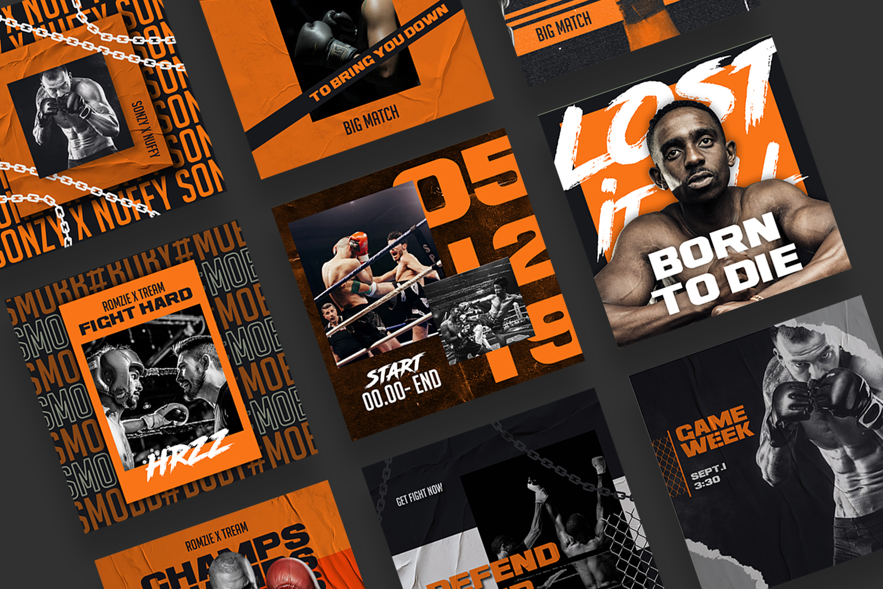 Boxing Instagram Templates example image 10