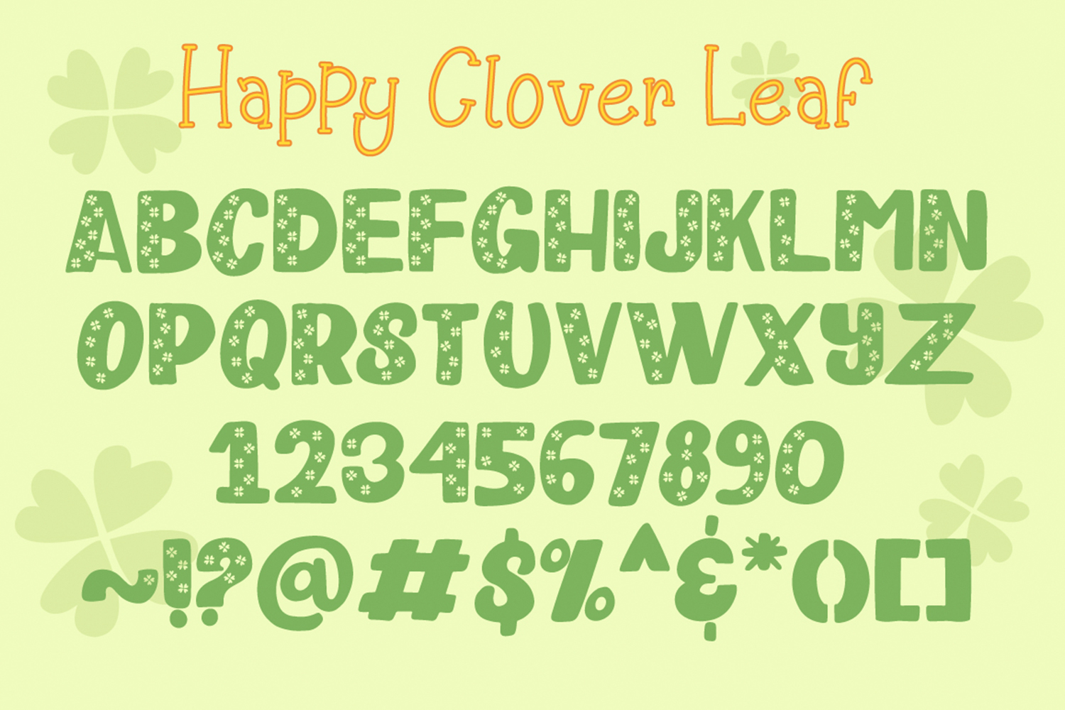 Happy Clover Font Duo example image 5