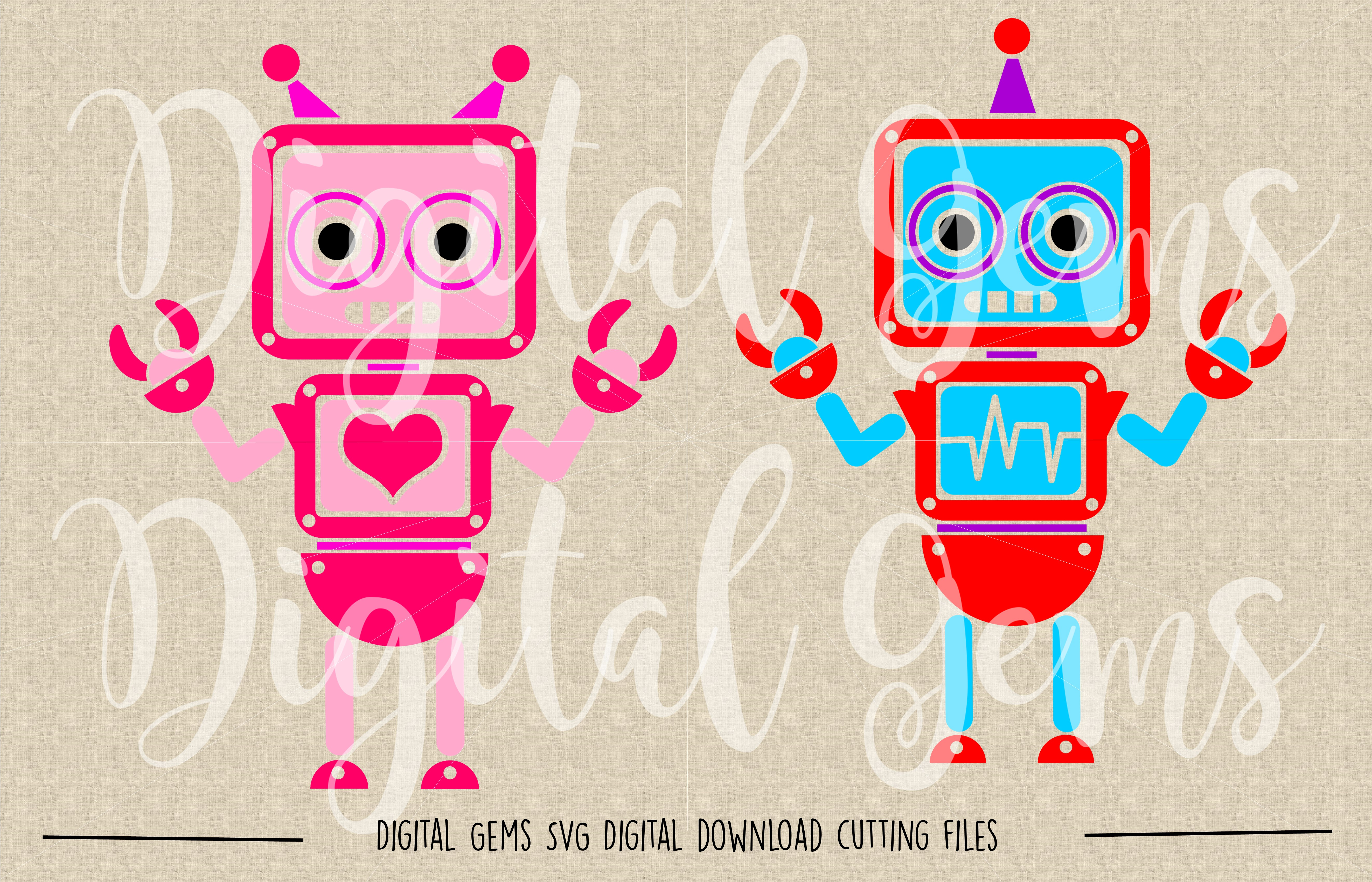 Robot SVG / DXF / EPS / PNG files example image 2