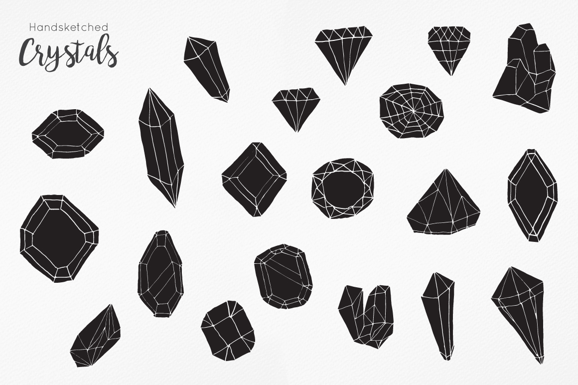 Handsketched Gemstones and Crystals example image 3