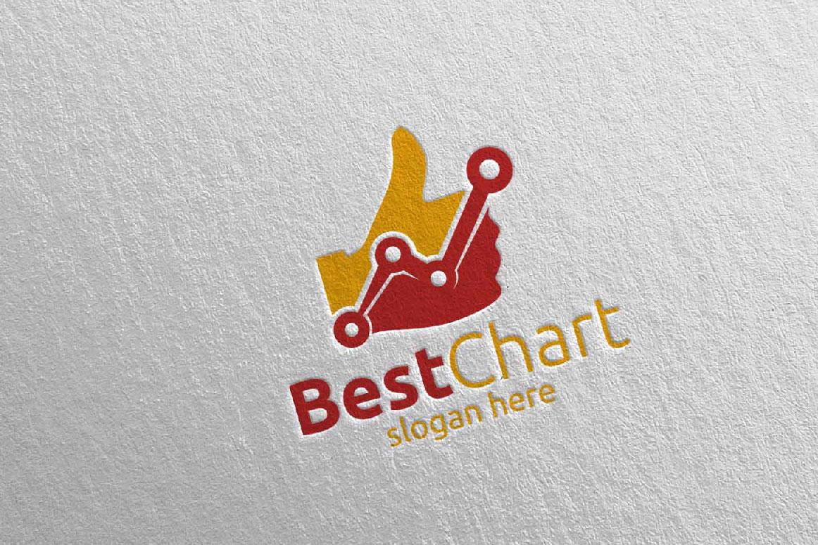 Best Chart Marketing Financial Advisor Logo Design 17 example image 2
