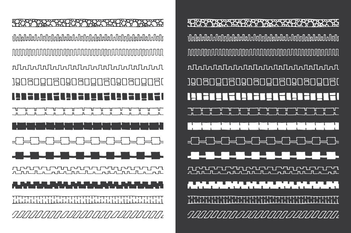 Hand Drawn Pattern Brushes Vol. 04 example image 2