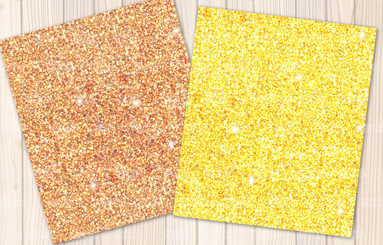 Lemon seamless Glitter backgrounds example image 4
