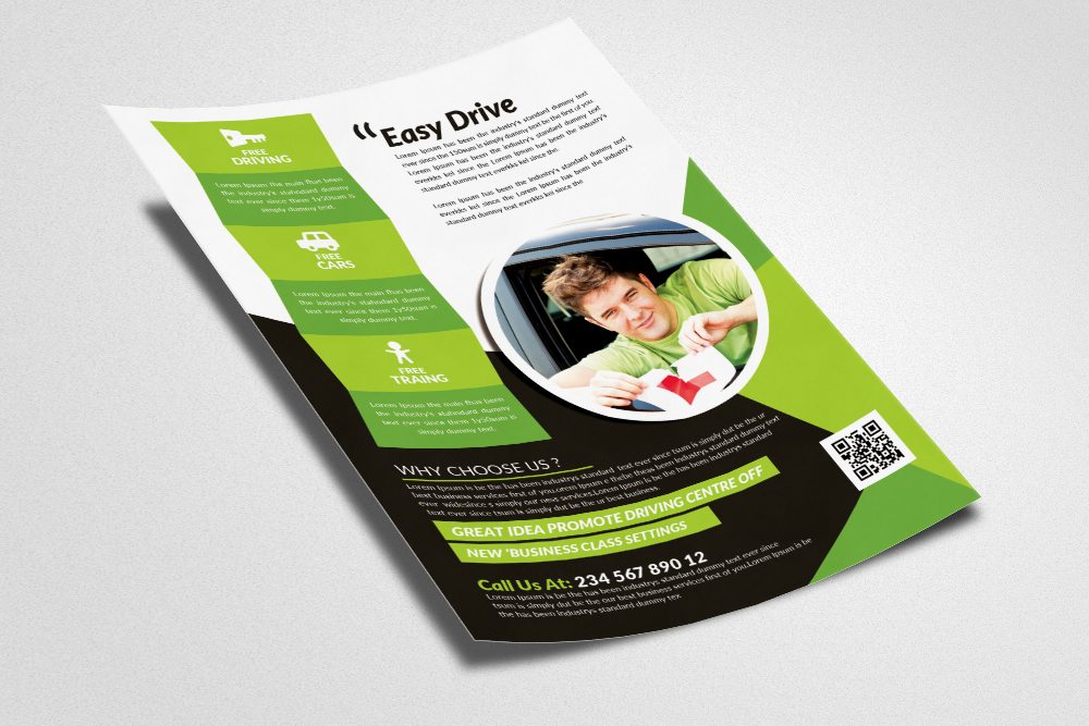 Driving School Flyers Templates example image 3