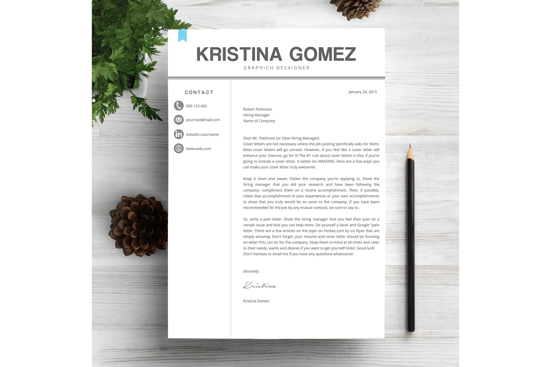 Feminime Resume Template example image 4