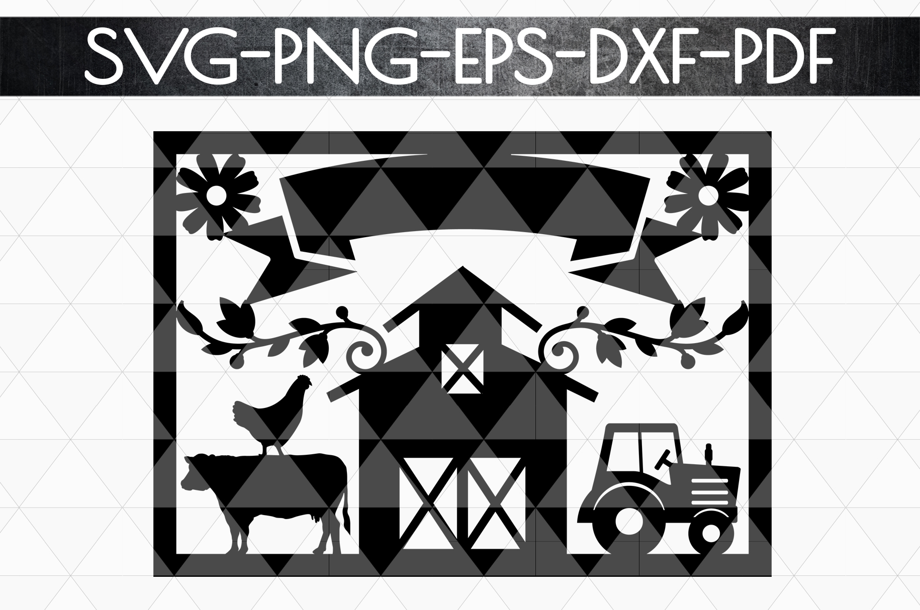 Customizable Farm Papercut Template, Farmhouse Themed, PDF example image 4