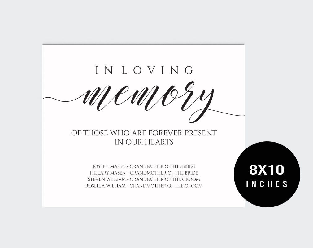 In loving memory example image 2