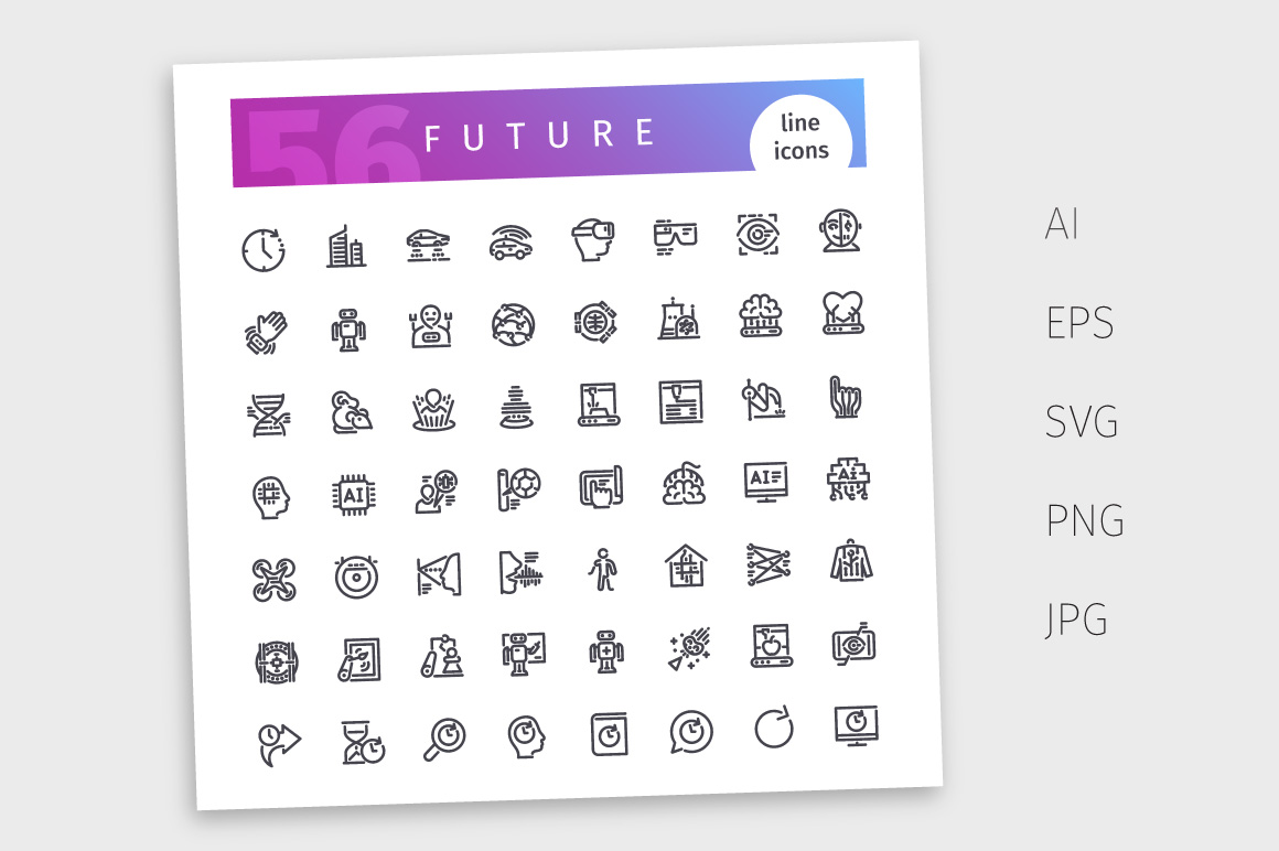 Future Line Icons Set example image 4