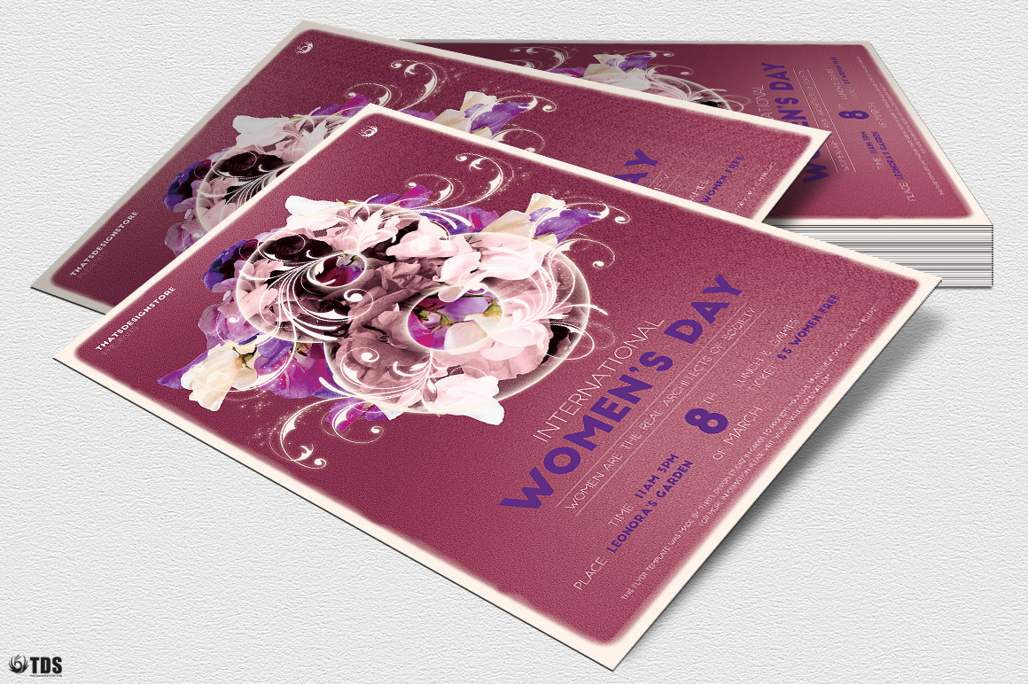 Womens Day Flyer Template V1 example image 4