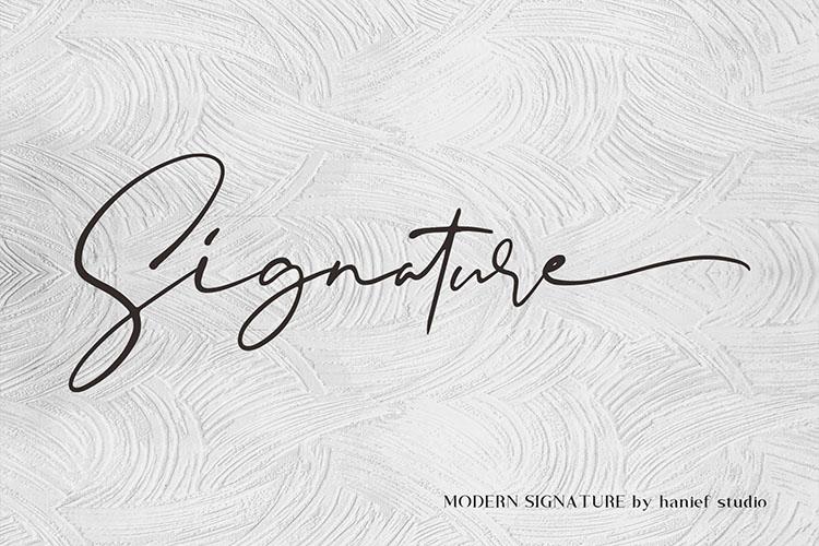 Binetta Signature//Modern Script example image 9