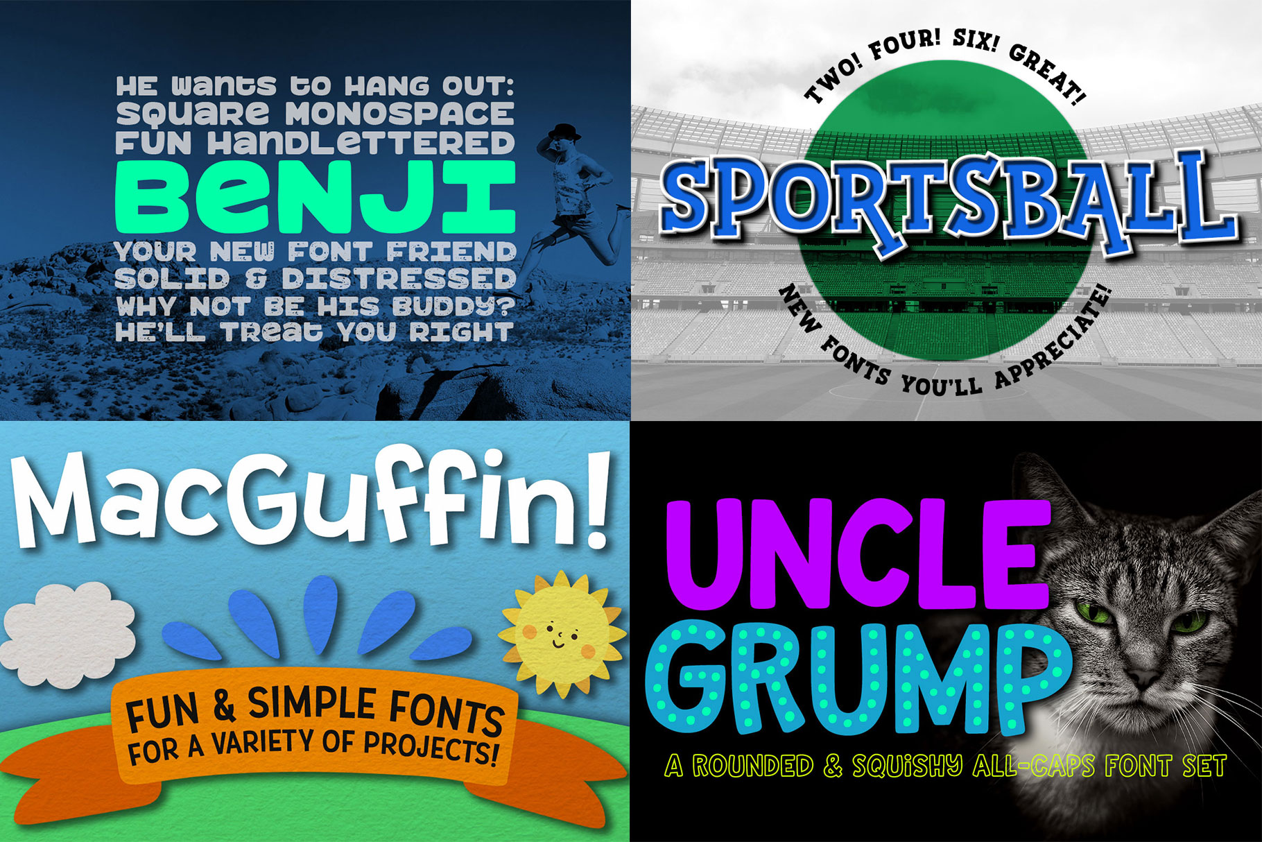 Billy Bot Bundle 3 - The Fun Workhorse Font Bundle! example image 2