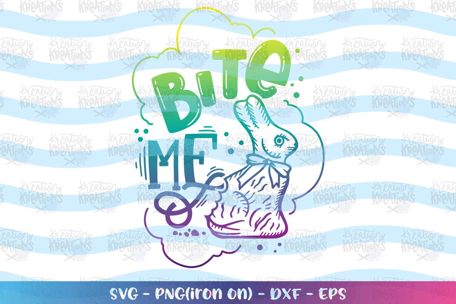 Easter svg Bite Me svg Chocolate bunnies svg Cute Bunny example image 1