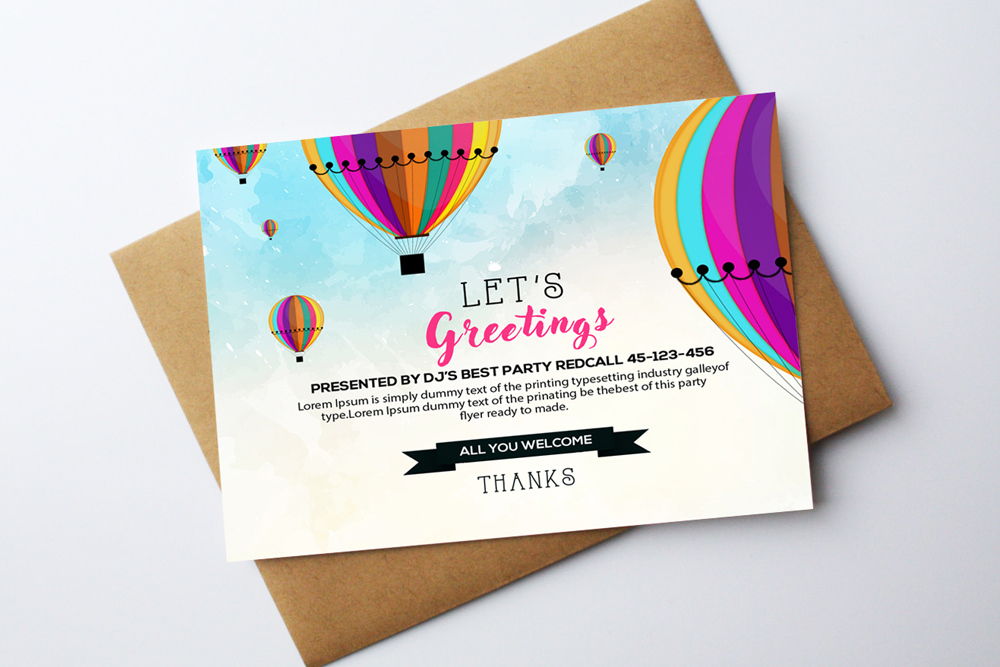 Greeting Card Template example image 1
