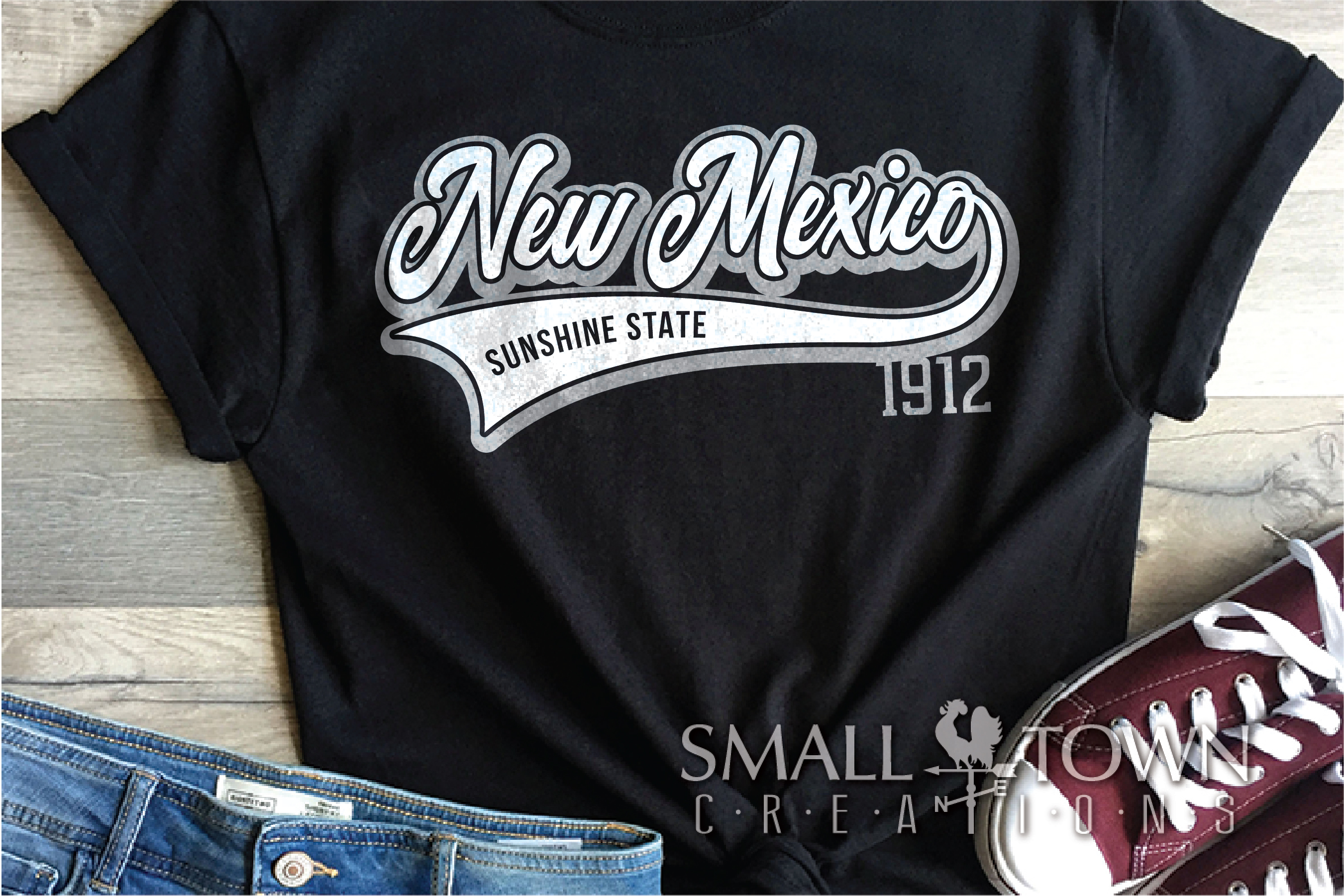 New Mexico, Sunshine State - slogan, PRINT, CUT & DESIGN example image 2