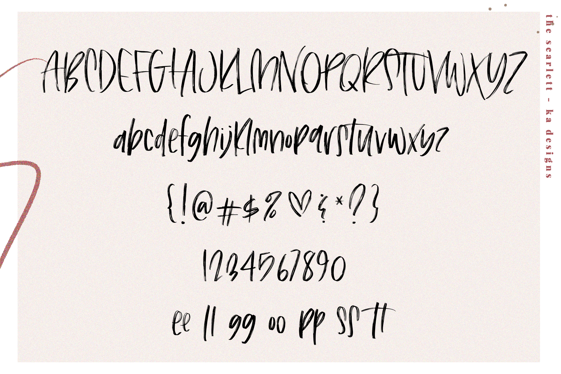 The Scarlett - A Handwritten Brush Font example image 14