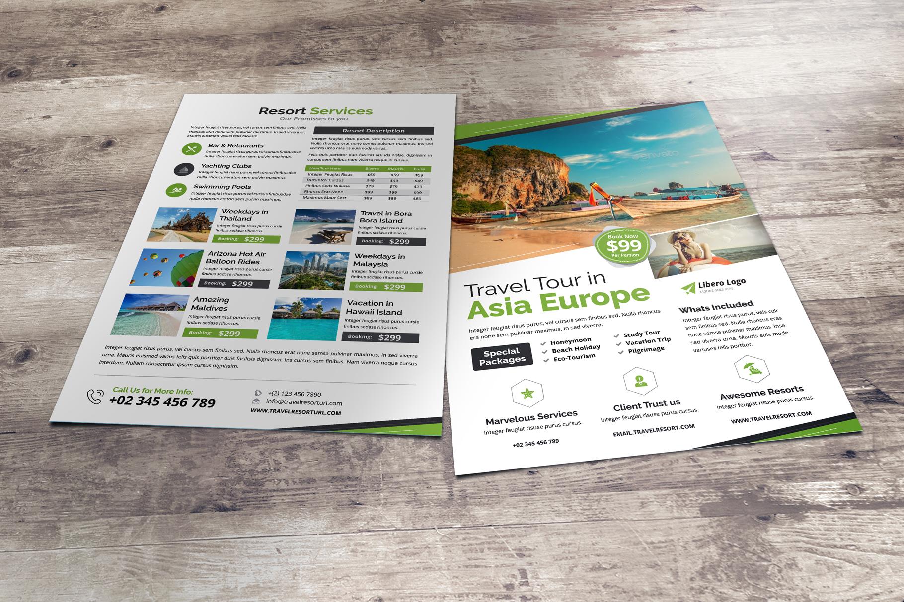 Travel Resort Flyer Design v2 example image 6