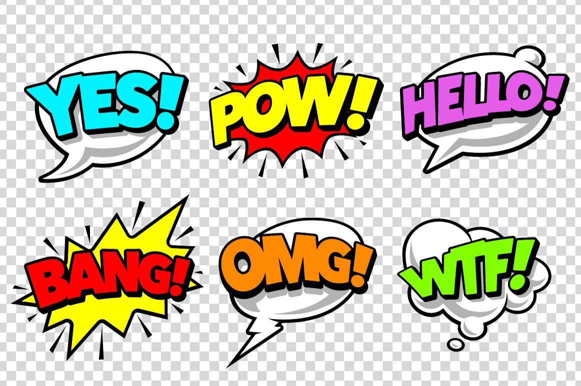 Comic Speech Bubbles example image 6