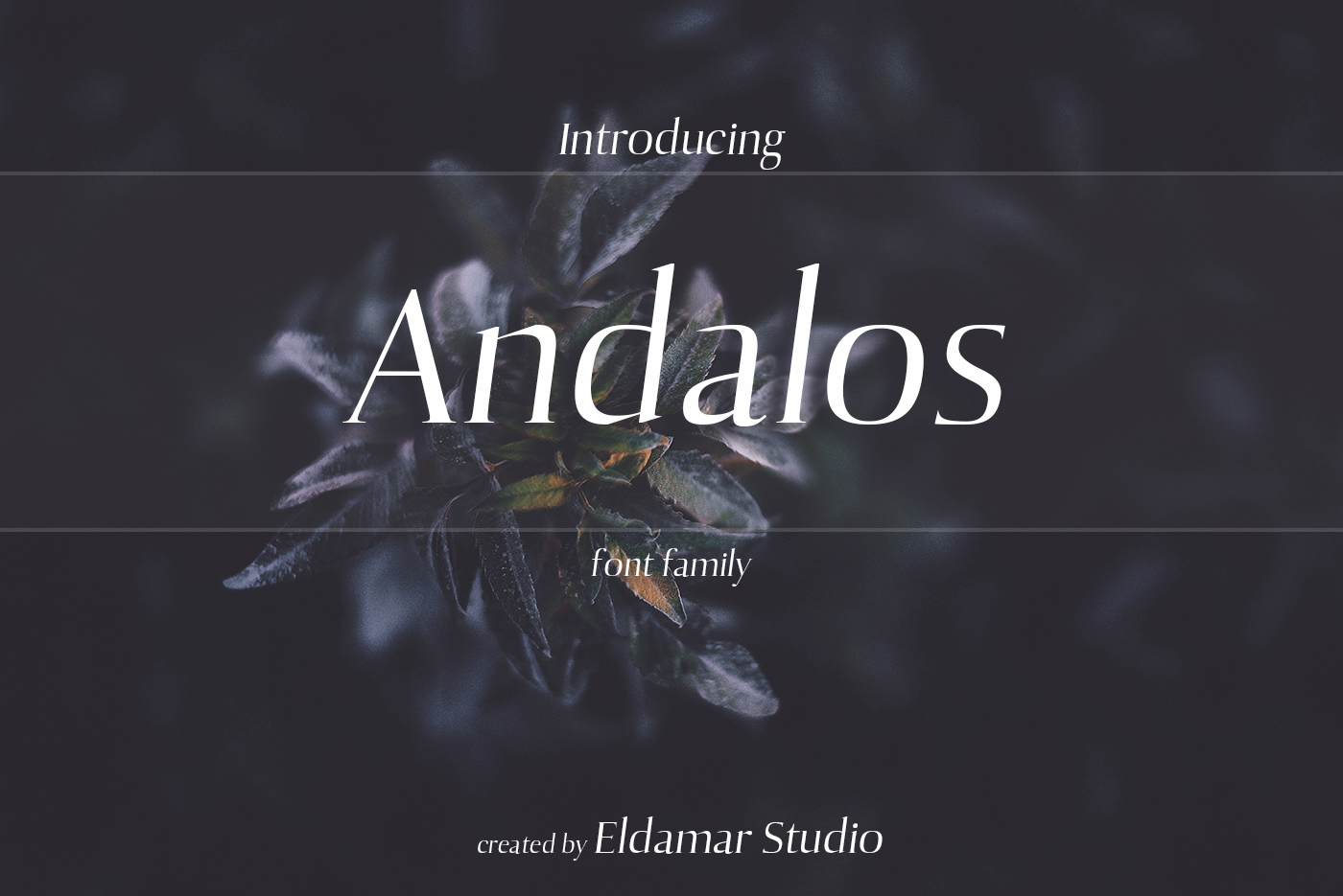 Andalos Font example image 1