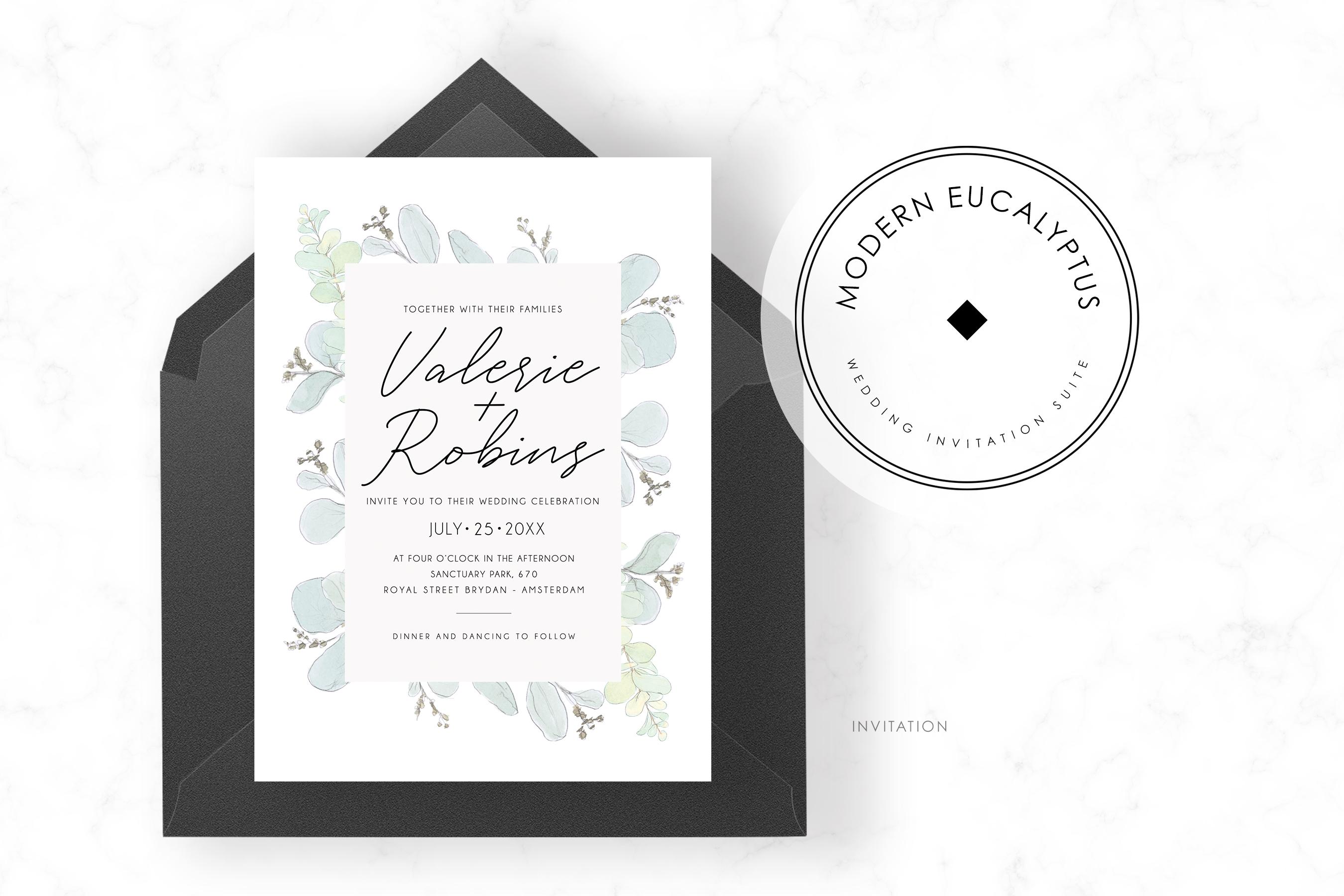 Modern Eucalyptus Wedding Suite example image 2