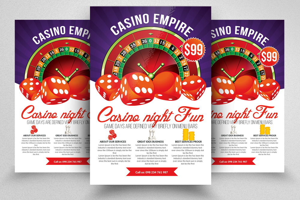 10 Casino Flyers Bundle example image 11