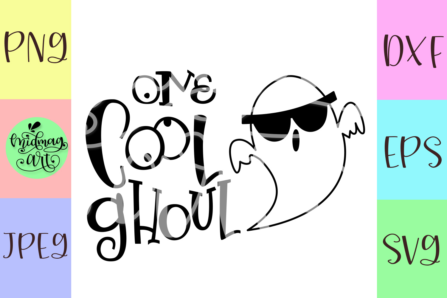 One cool ghoul svg, halloween baby svg example image 2