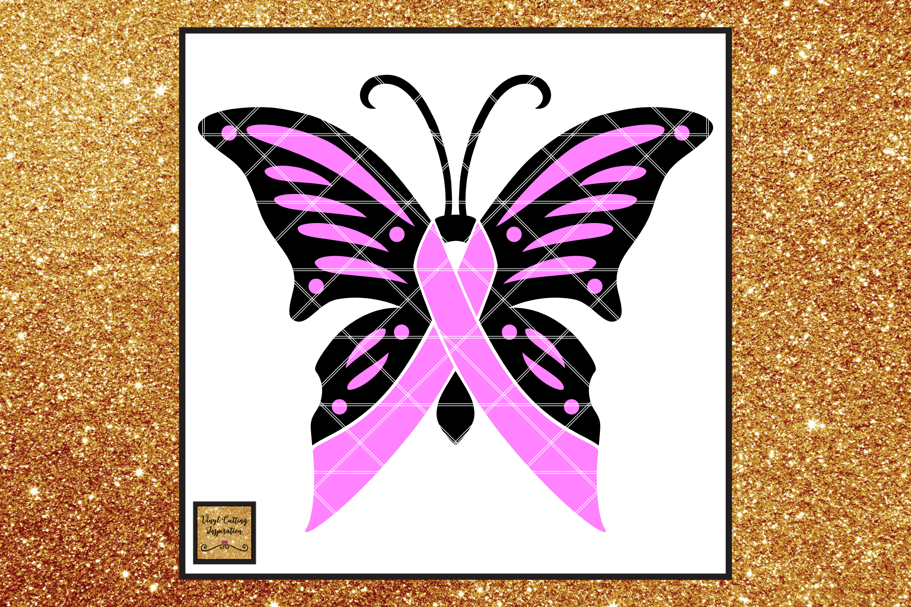 92e801c81 Breast Cancer Awareness Ribbon Butterfly SVG, Cancer Ribbon example image 1