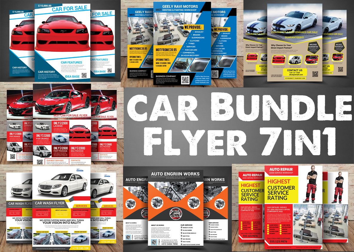Car Bundle 7in1 Flyer example image 1
