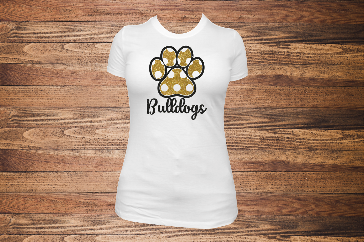 Pattern Paw Print   SVG Cut File example image 4