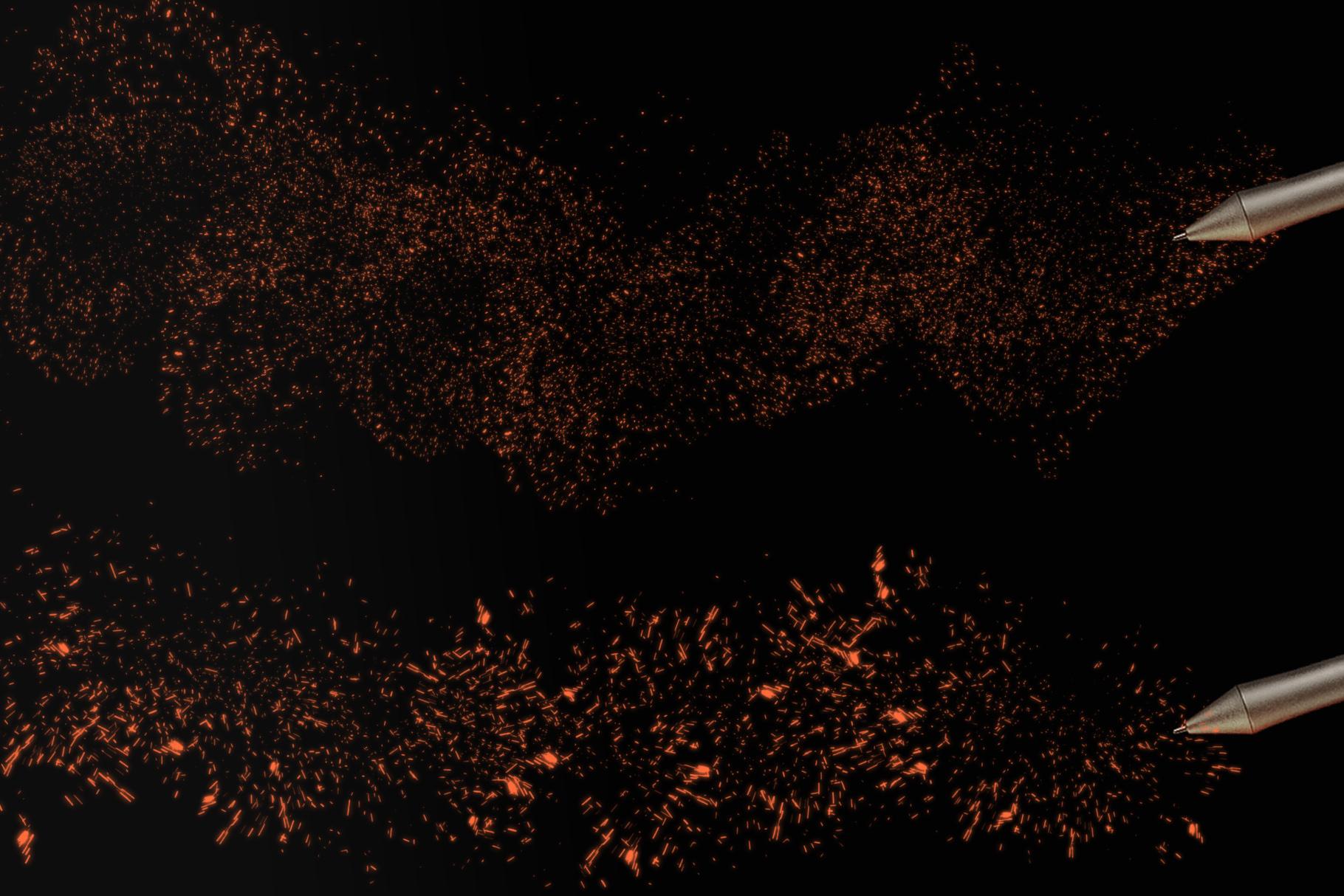 Sparks Photoshop Brushes example image 5
