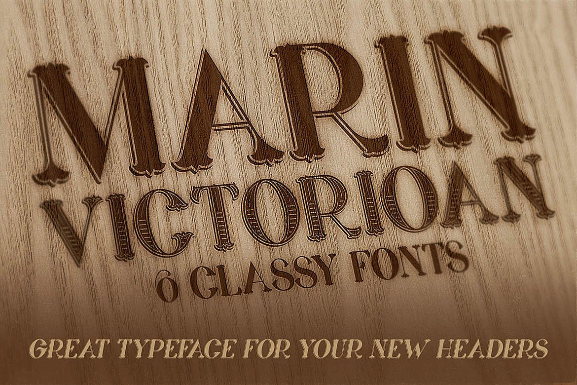 Marin - Victorian Font example image 4