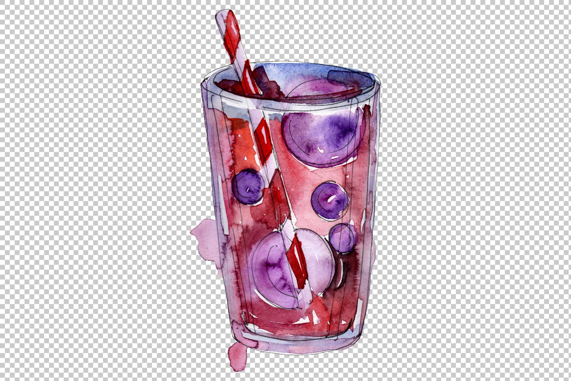 Gin Drinks Watercolor png example image 4