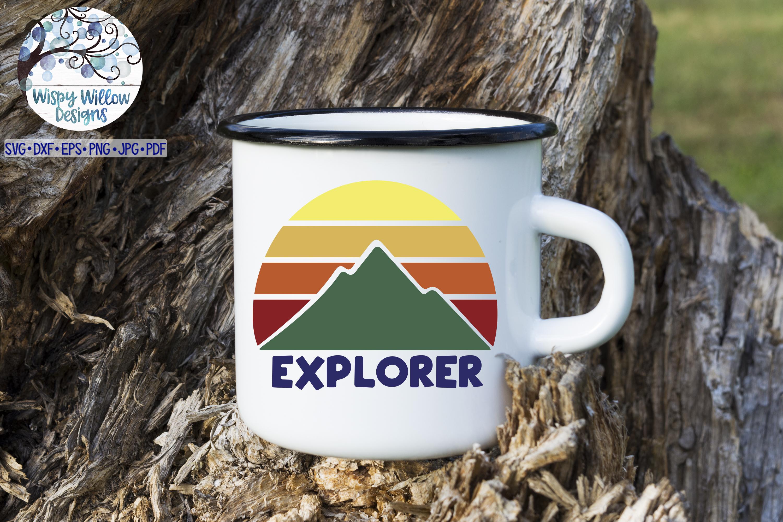 Explorer SVG | Mountain Sunrise SVG Cut File example image 2
