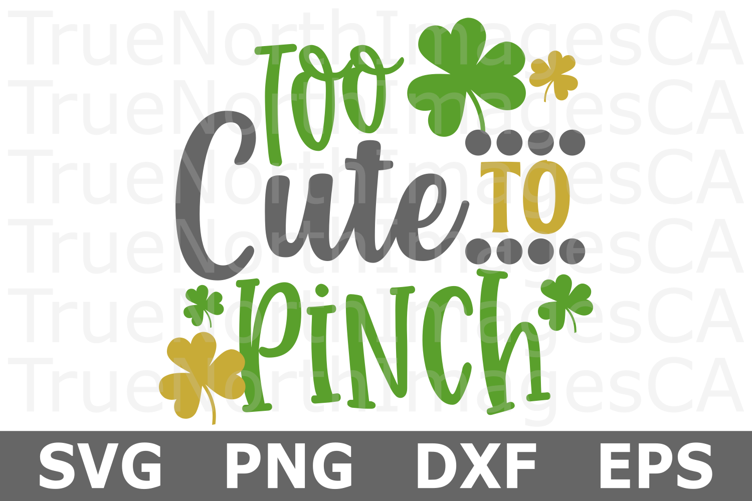 Too Cute to Pinch - St Patricks Day SVG Cut File example image 1