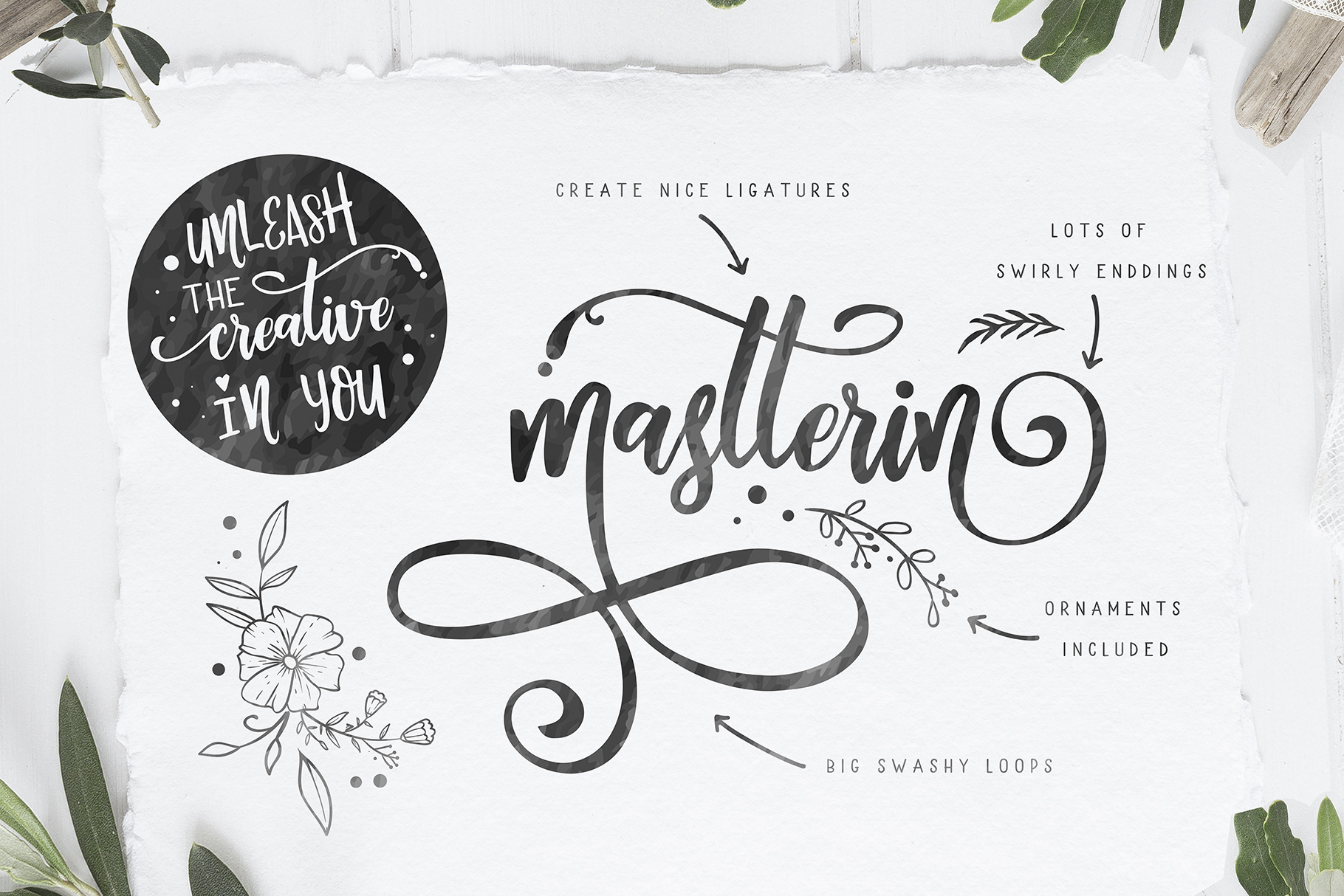 Berson Dream Font TRIO and extras example image 6