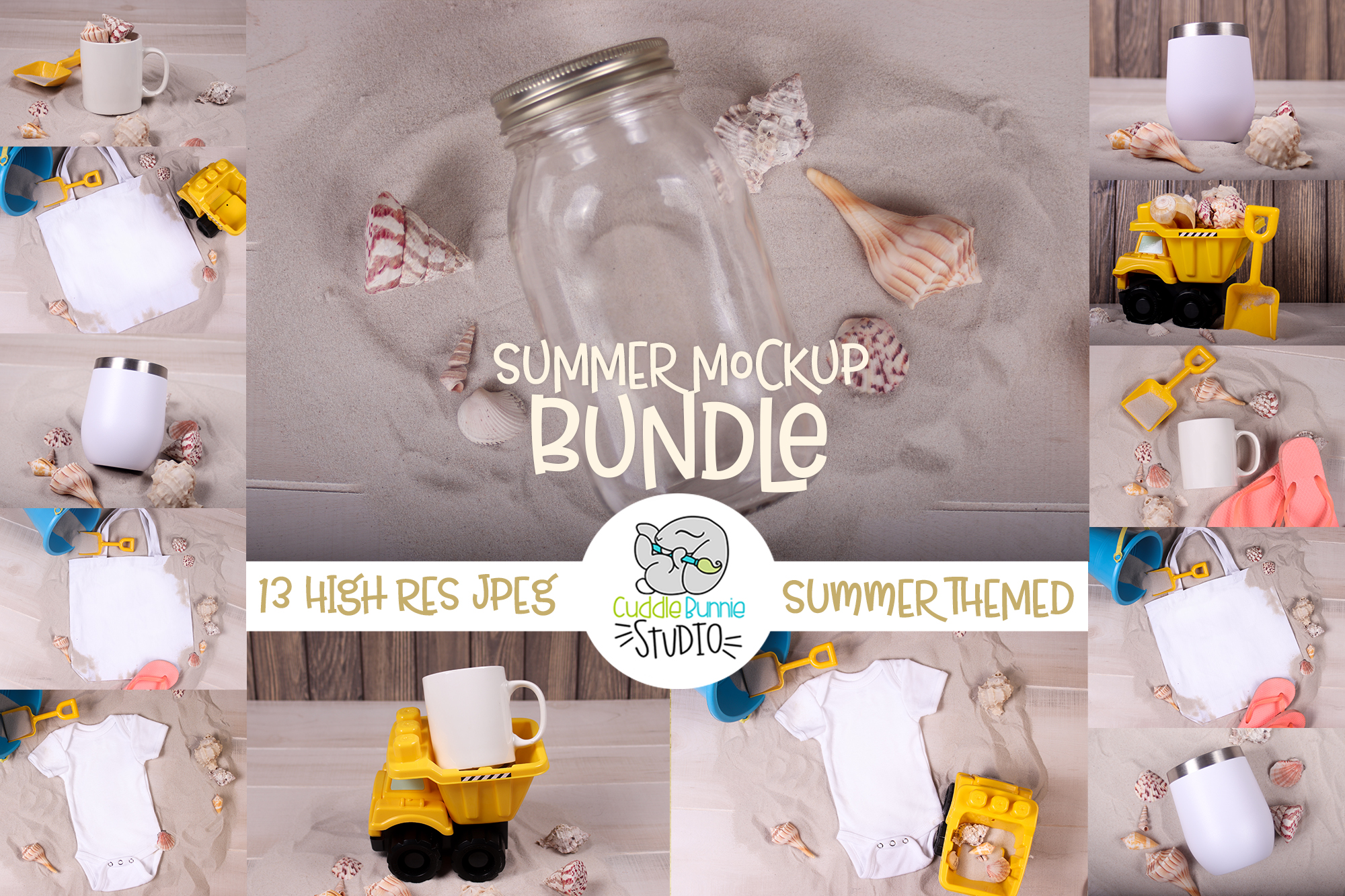 Summer Mockup | A Variety of Summer Themed Mockups example image 1