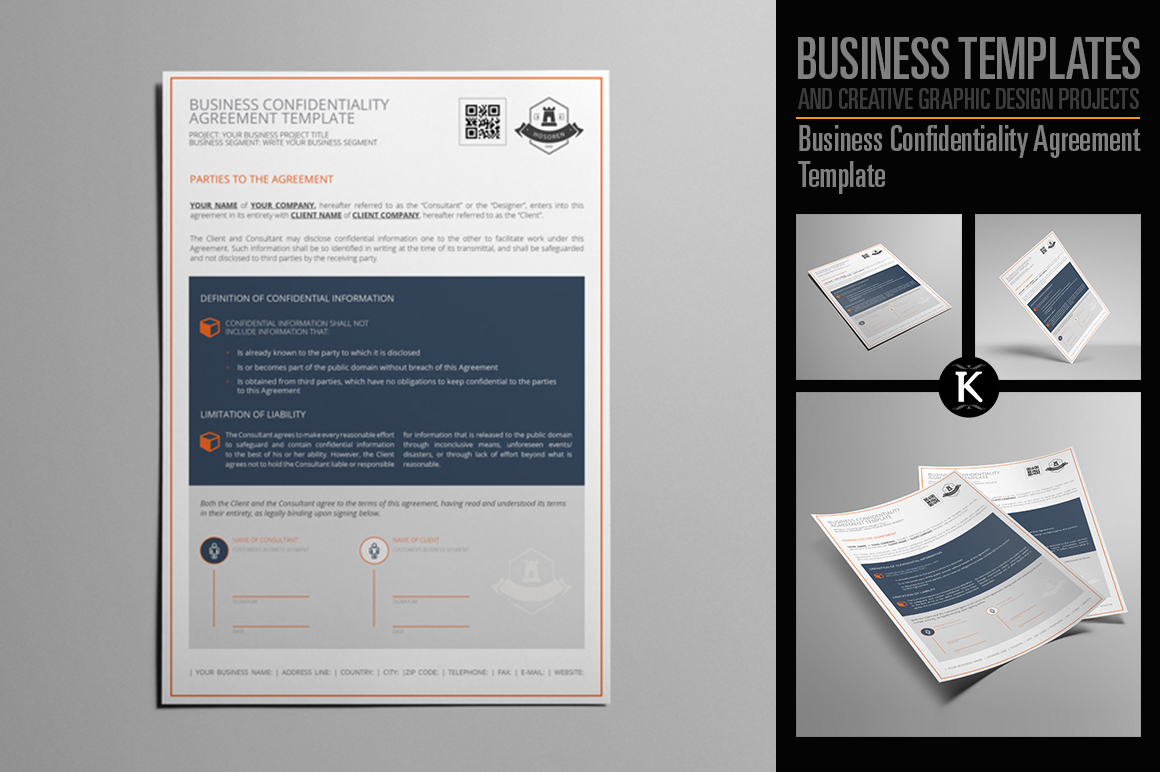 Business Confidentiality Agreement Template example image 1