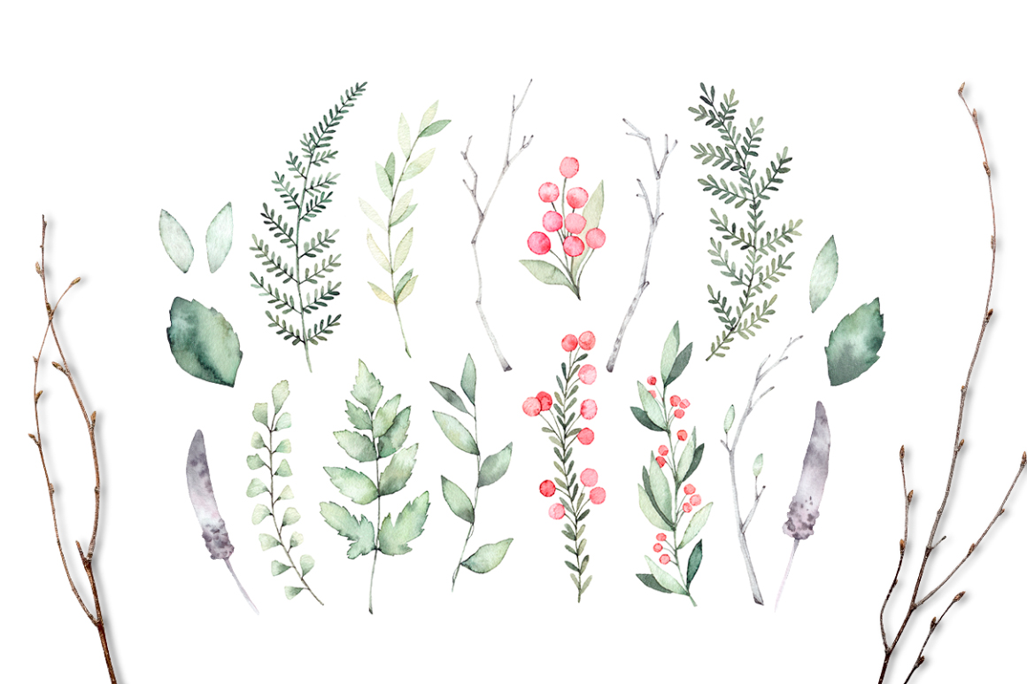 Spring is coming. Watercolor set example image 3