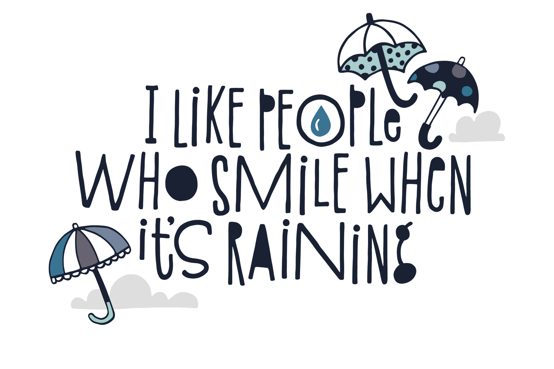 Spring Showers Font and Doodles example image 2