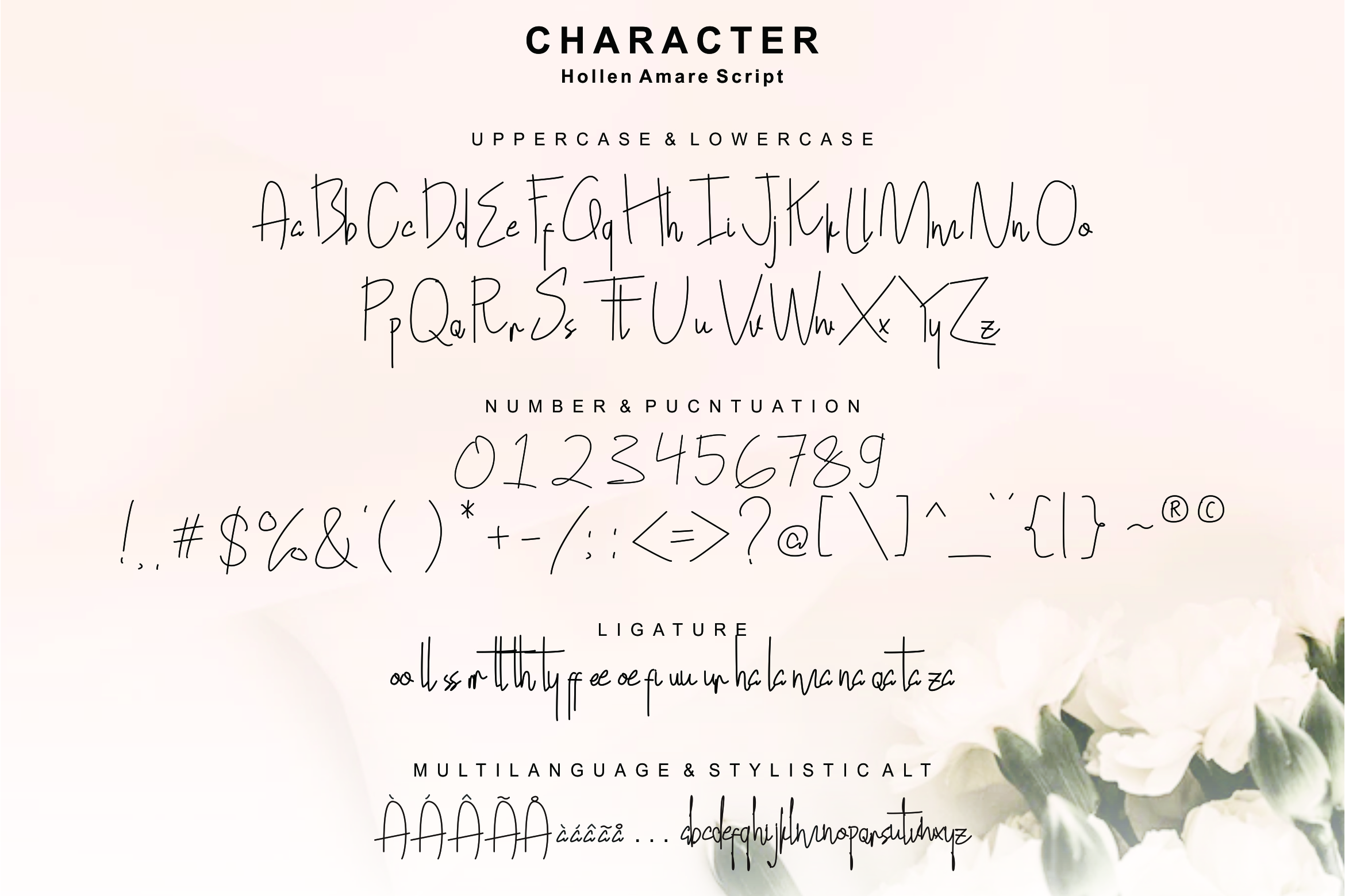 Hollen Amare Font Duo - free logo template example image 6