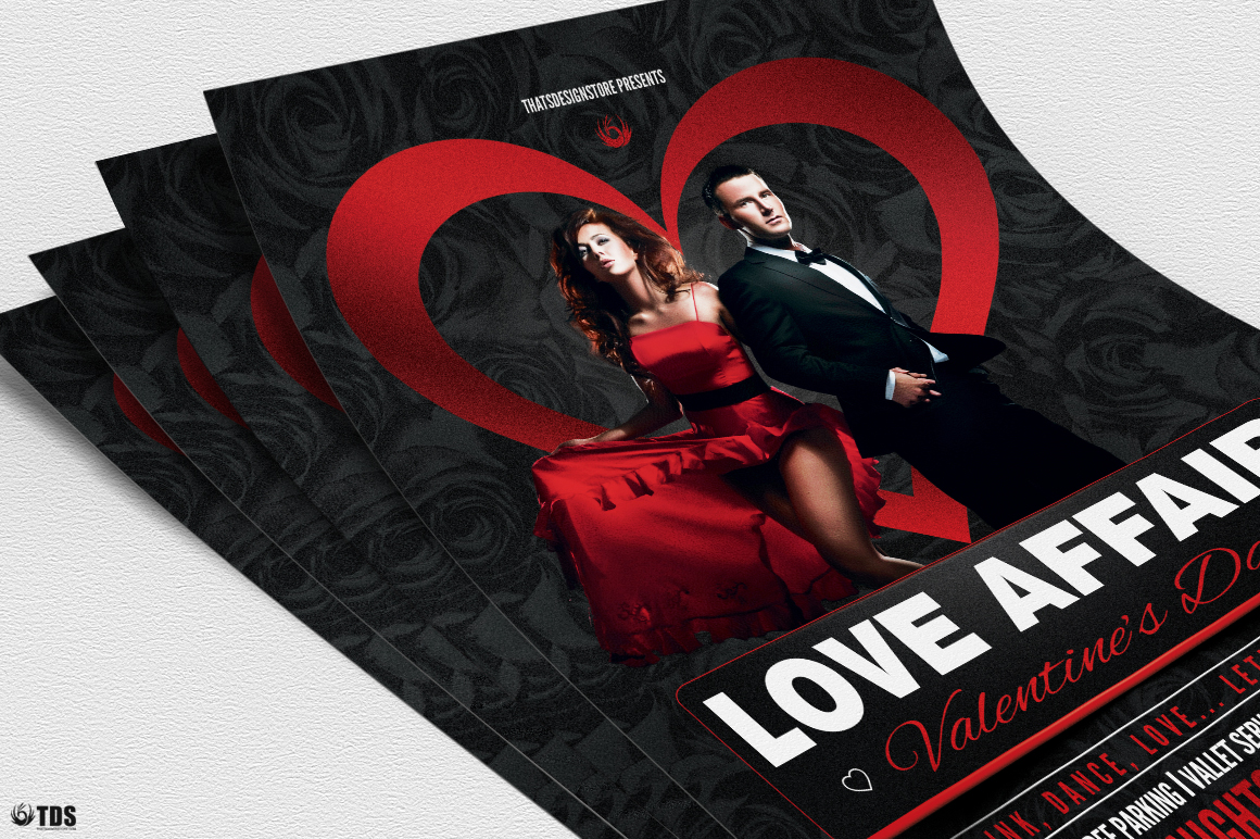 Valentines Day Flyer Template V1 example image 5