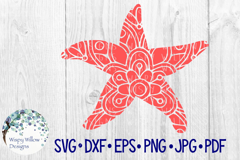 Starfish Mandala, Animal Mandala SVG Cut File example image 2