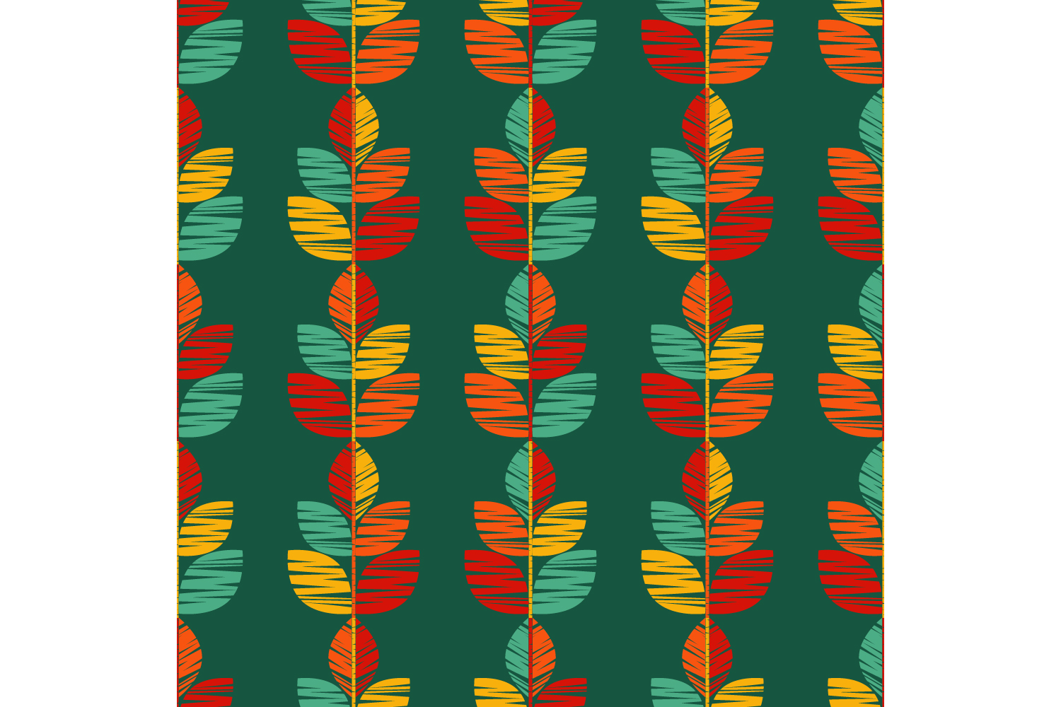 Decorative leaves. Set of 10 seamless patterns. example image 3