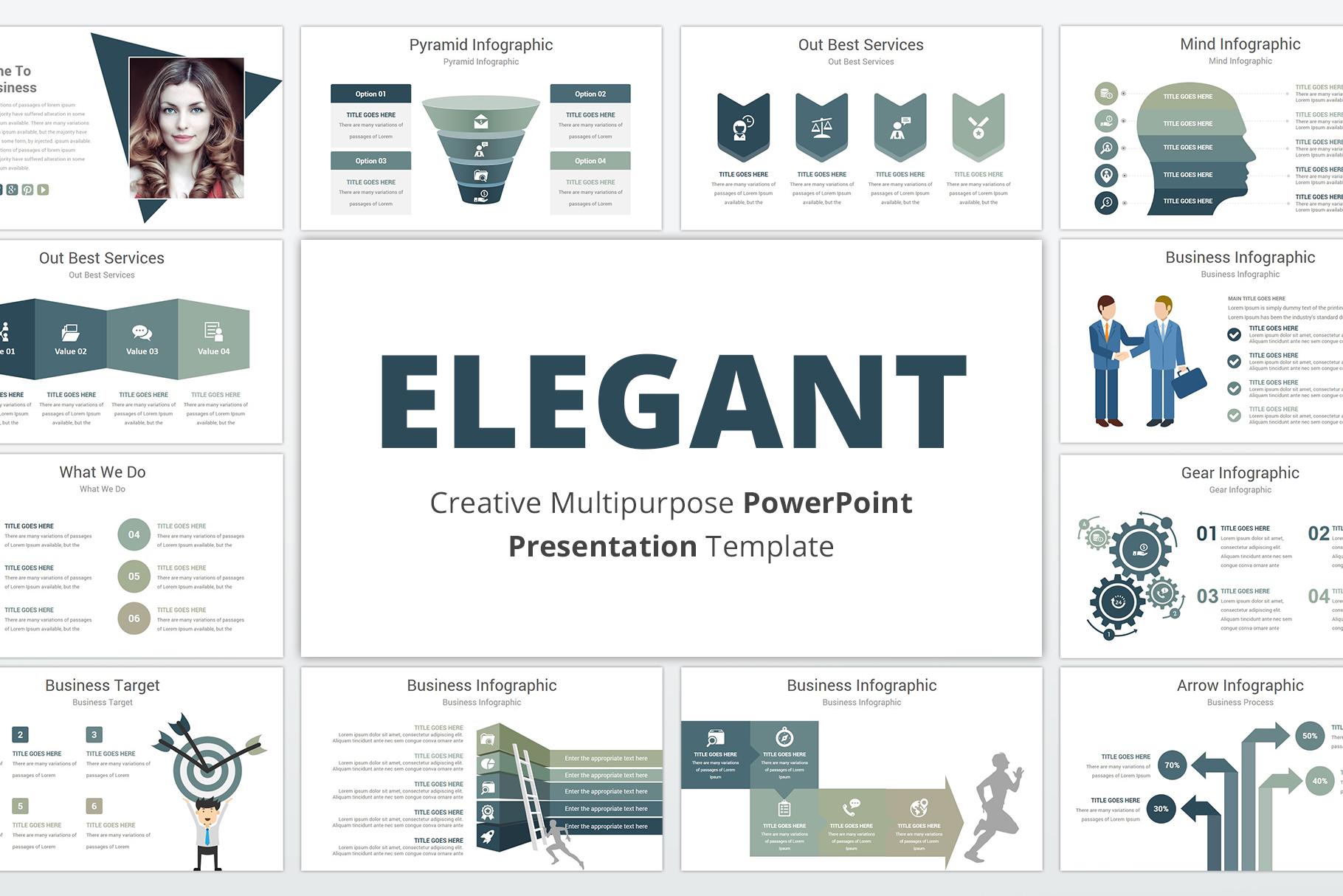 Elegant multipurpose PowerPoint Presentation Template example image 1