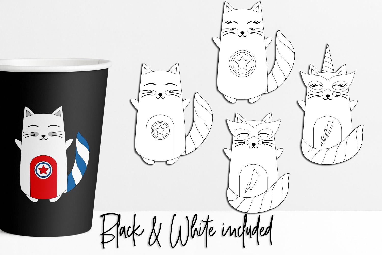 Cat Superhero Graphics example image 2