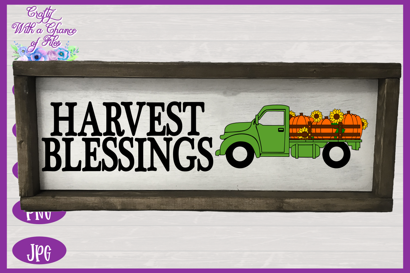 Harvest Blessings SVG | Pumpkin Truck SVG | Farm Truck SVG example image 2