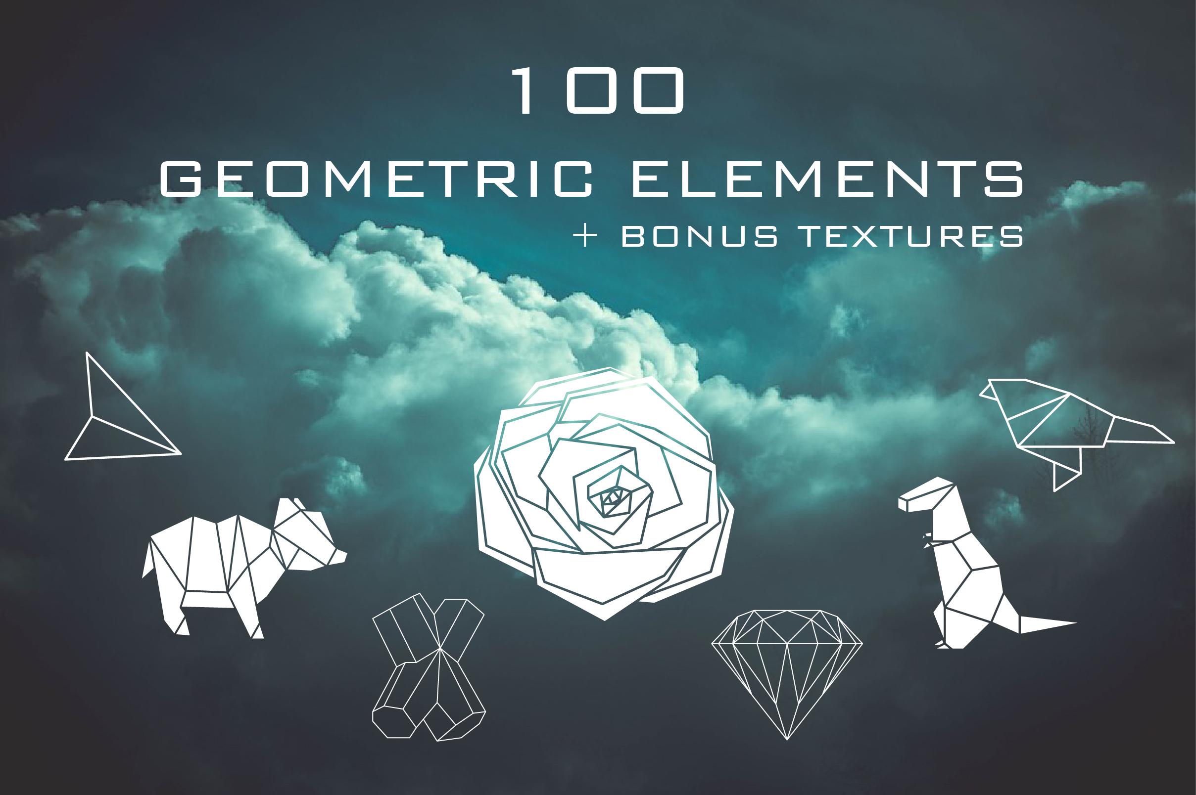 100 Geometric elements + bonus! example image 1