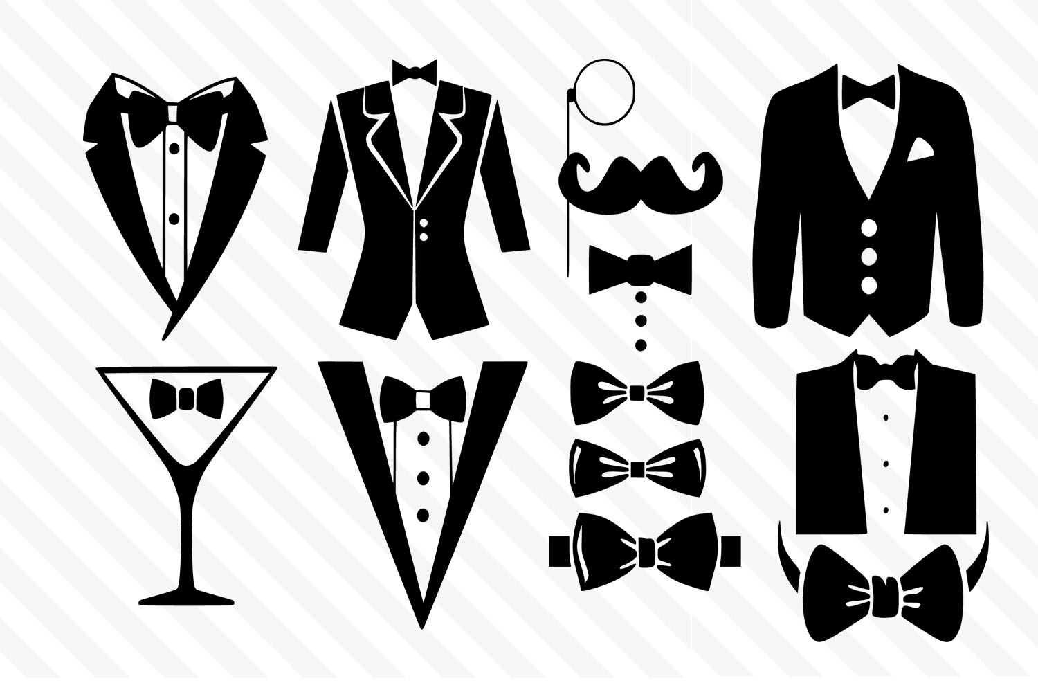 Bow,Men Bow,Tux bow,Wedding svg,Groom svg,Icon,Cricut,Tie example image 1
