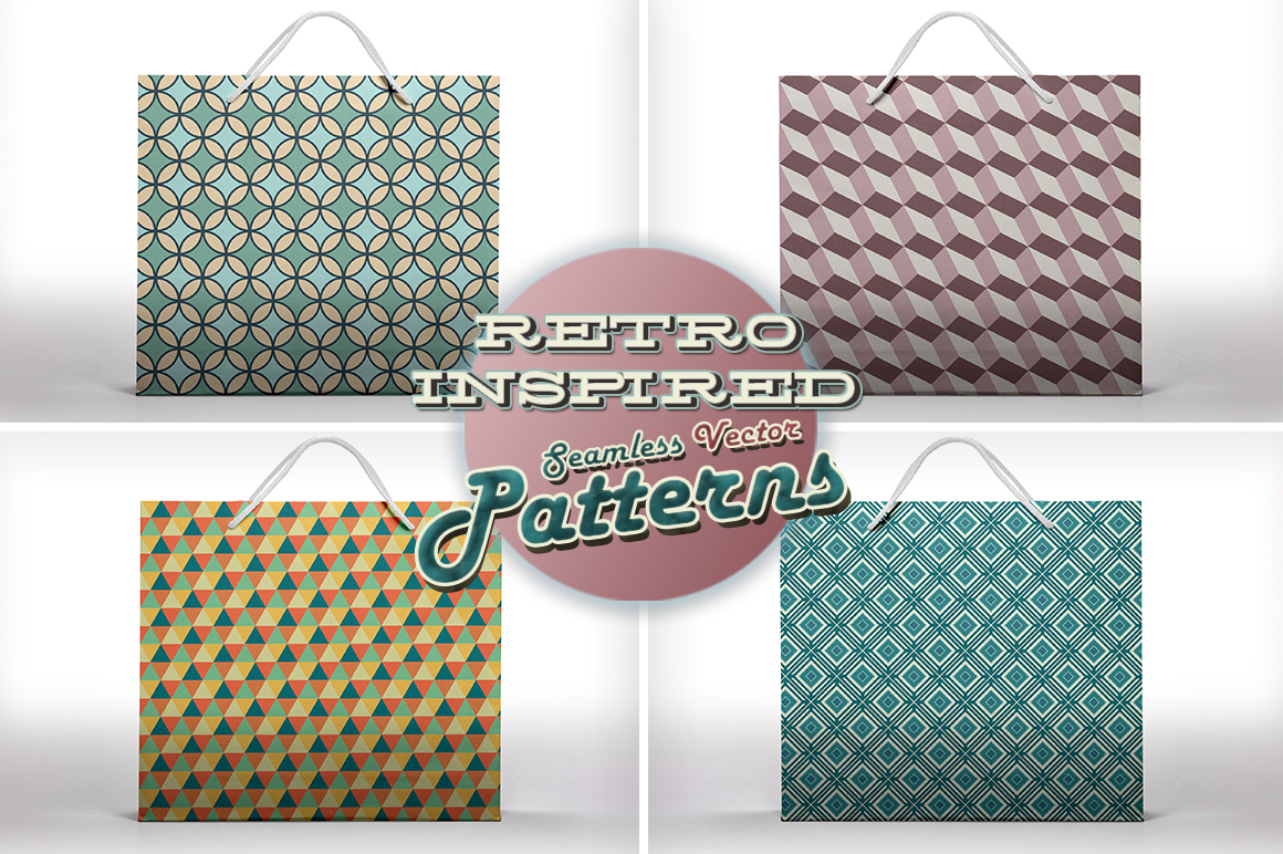 Retro Inspired Vector Patterns example image 7